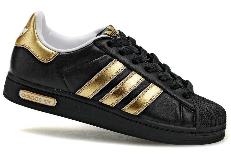 adidas superstar noir et or femme